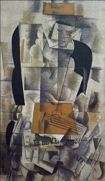 Tableau connu de Georges Braque intitulé  Femme à la .....