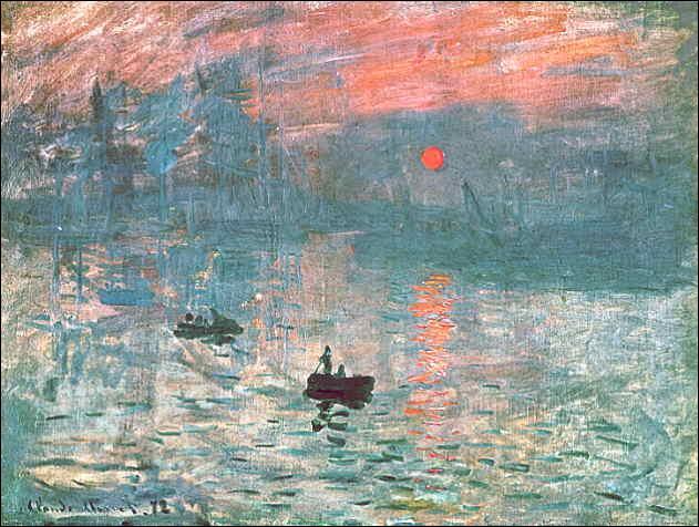 Toile célèbre de Claude Monet qui a donné son nom à l'impressionnisme, c'est  Impression .....