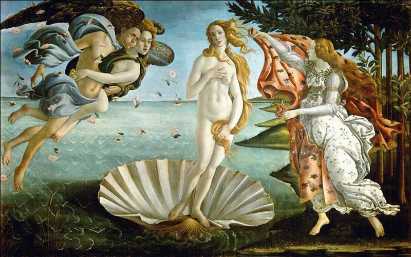 Toile de Sandro Botticelli c'est la ... ... de Vénus