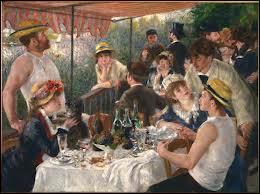 Illustre tableau de Renoir, c'est  le déjeuner ...