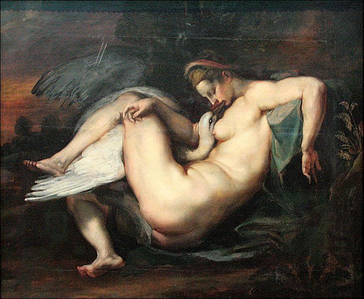 Toile de Paul Rubens c'est   ... ... et le cygne