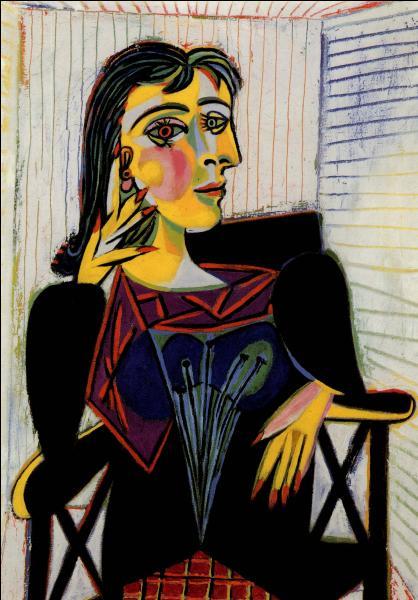 Oeuvre de Pablo Picasso, c'est  Portrait de ...
