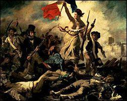 Oeuvre célèbre d'Eugène Delacroix, c'est La liberté ...