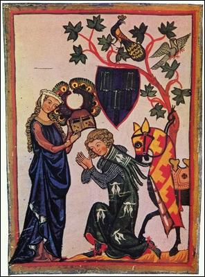 Qu'appelle-t-on  faveur  donnée par la belle dame à son chevalier ?