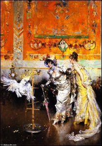Deux femmes au perroquet.