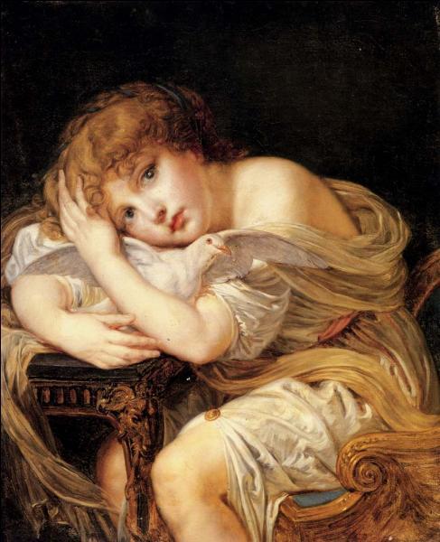 Jeune fille à la colombe.
