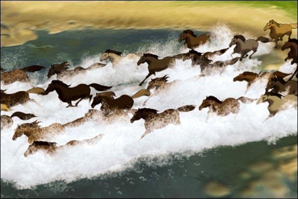 Quand Spirit se fait capturer la 3ème fois, que doit-il faire avec les autres chevaux ?