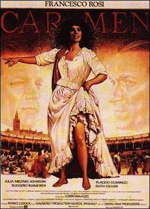 Qui joue (merveilleusement) Carmen dans le film de Francesco Rossi ?