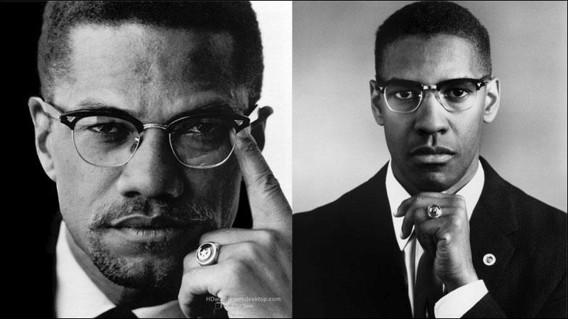Malcolm X (prêcheur musulman afro-américain) vs Denzel Washington. Lequel est Denzel Washington ?