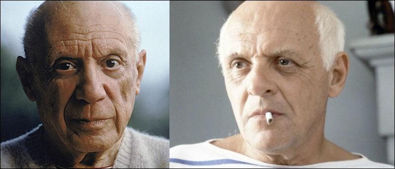 Picasso vs Anthony Hopkins. Lequel est Picasso ?