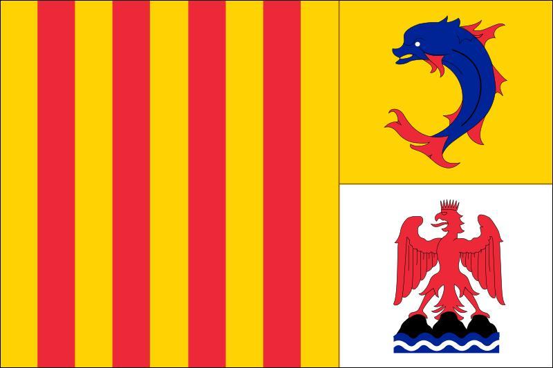 Ce drapeau appartient-il à la région Languedoc-Roussillon, dans le Sud de la France ?