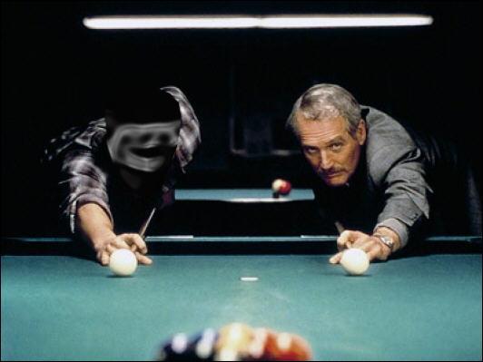 Dans  La Couleur de l'argent , Paul Newman lui enseigne les secrets du billard. C'est :