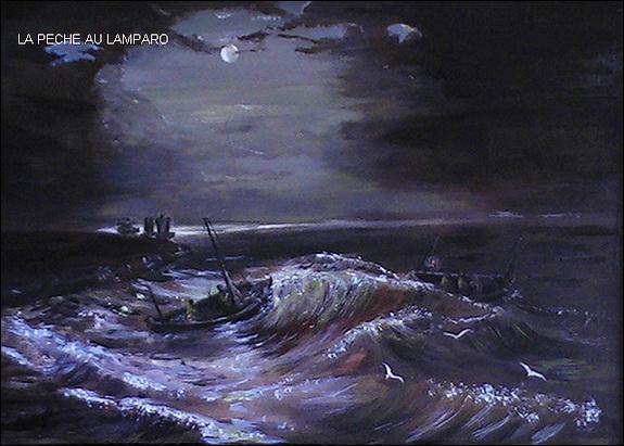Cette image de nuit illustre la pêche au lamparo, à quoi sert le lamparo ?