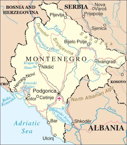 Quel était le nom (durant l'époque communiste) de la ville de Podgorica, devenue aujourd'hui la capitale du Monténégro ?