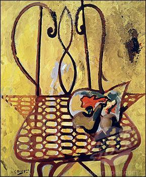 Qui a peint La chaise de jardin ?