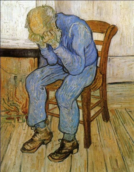 Qui a peint Vieil homme en dépression ?