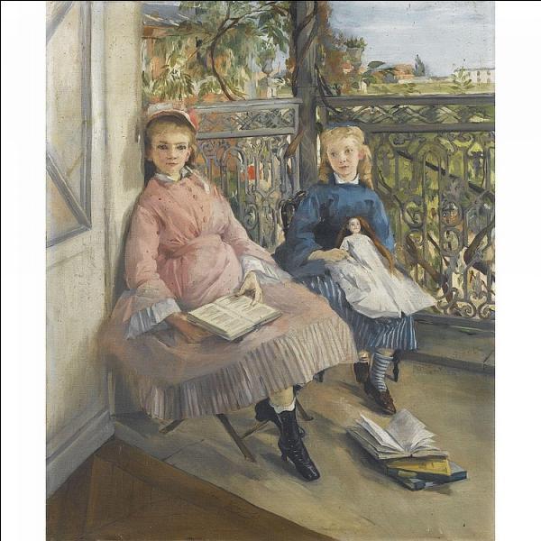 Qui a peint ces deux fillettes assises sur des chaises ?