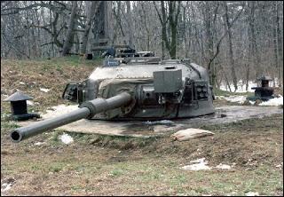 De quel char utilisé en Suisse provient cette tourelle ?