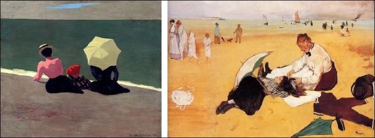 Quelle scène de plage a-t-il peinte ?