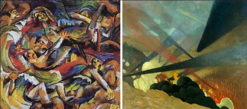 A-t-il peint le tableau sur la guerre de droite ou de gauche ?
