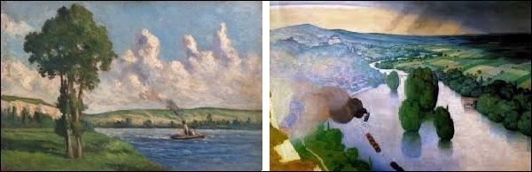 A-t-il peint  Souvenir des Andelys  (image de droite) ou  La Seine aux Andelys  (image de gauche) ?