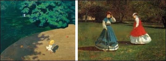 A-t-il peint  Le Jeu de croquet  ou  Le Ballon  ?