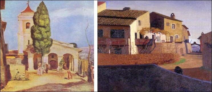 A-t-il représenté le pont à la romaine ou une église de Cagnes-sur-Mer ?