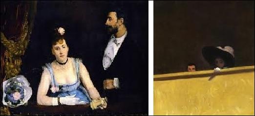 Quel couple a-t-il représenté dans une loge de théâtre ?