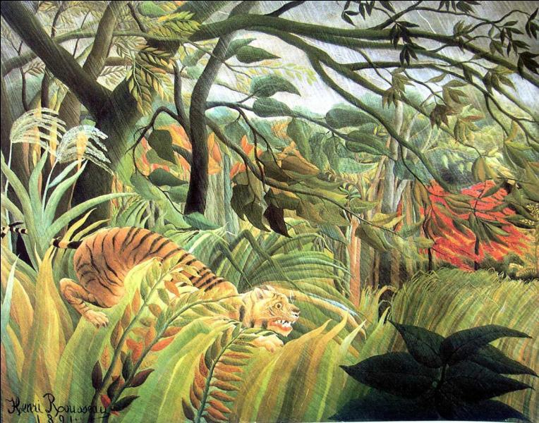 Le douanier Rousseau a peint une série de tableaux exotiques sans jamais quitter la France.