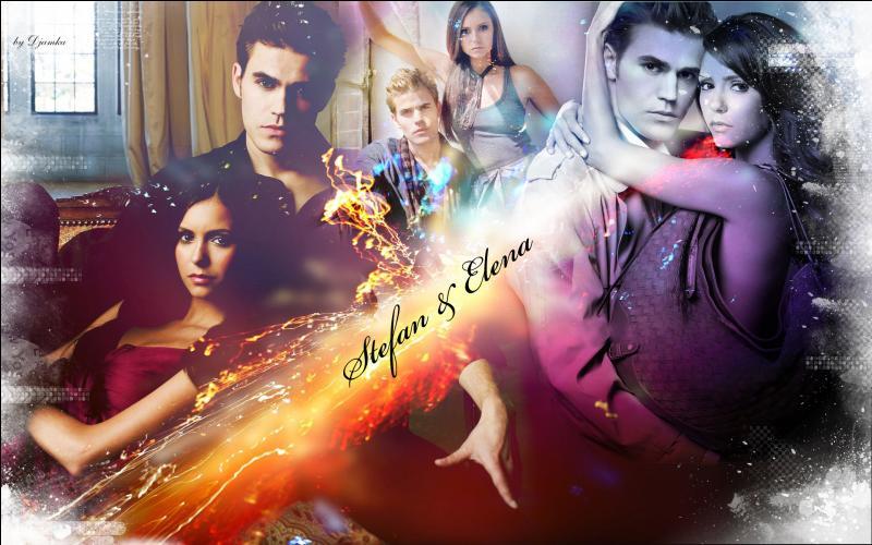Elena rencontre Stefan au lycée... .