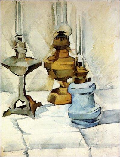 Qui a peint Les trois lampes ?