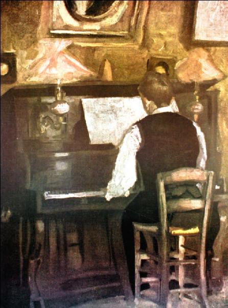 Qui a peint Gaston au piano ?