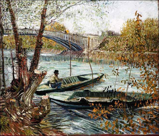 Qui a peint La pêche au printemps, Pont de Clichy ?