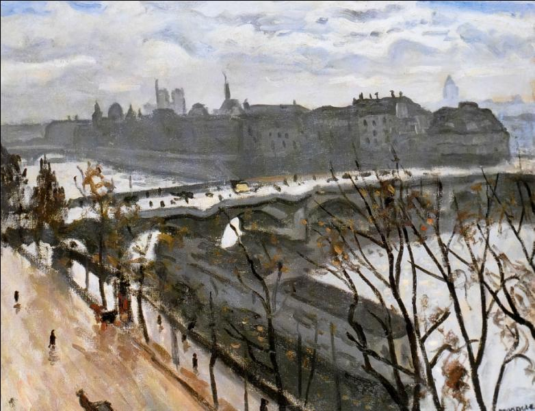Qui a peint Quai du Louvre en hiver ?