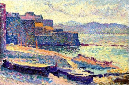 Qui a peint Le port de pêche de saint Tropez ?
