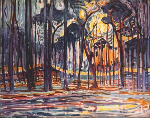 Qui a peint le bois près de Oele ?