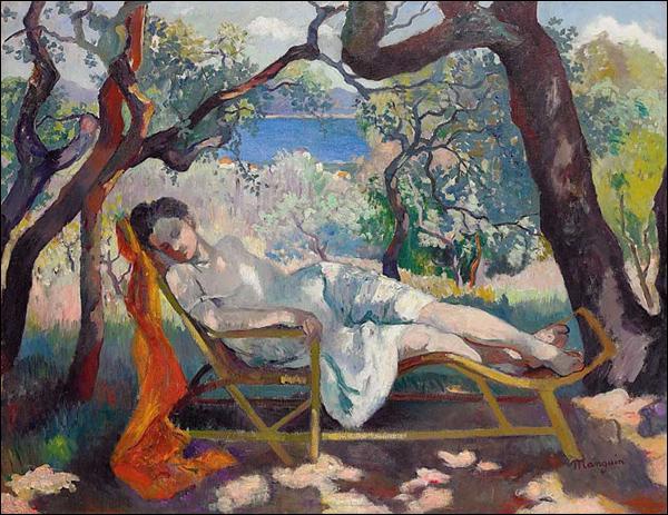 Qui a peint Odette allongée à l'Oustalet ?