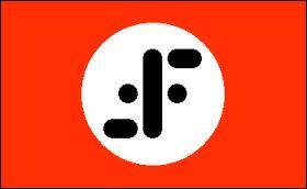 Dans quelle série télévisée voit-on ce drapeau qui évoque la croix gammée nazie ?