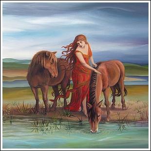 Qui est la protectrice des chevaux chez les Celtes ?