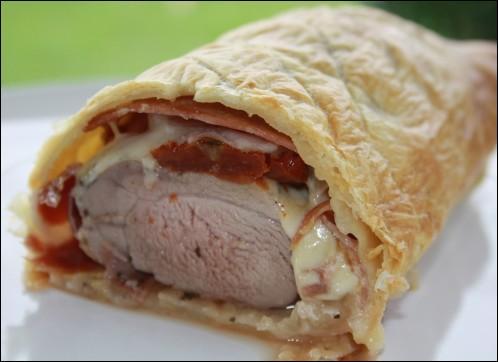 Quel est ce morceau de viande servi en croûte sous laquelle on pose des tranches de bacon et de fromage ?