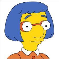 Voici la mère. Elle divorce du père du meilleur ami de Bart puis se remarie dans  Millie le petit orphelin .