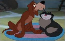 Dans quel film, Pataud, un chien de ferme paresseux, passe-t-il son temps à rêver qu'il pourchasse le chat Lucifer ?