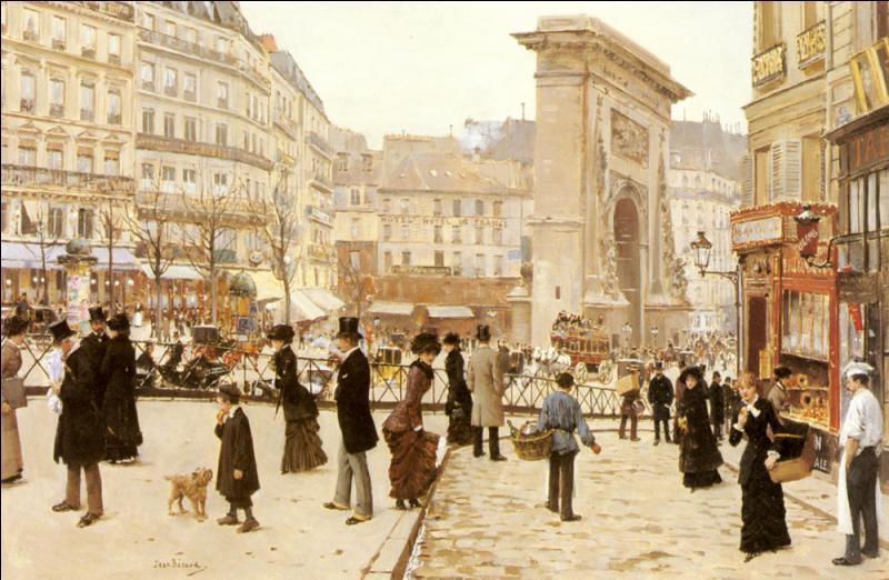 A quel artiste du 19e siècle, peintre de la vie parisienne, doit-on  La Porte Saint Denis , tableau réalisé vers 1880 ?