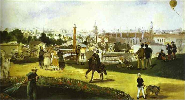 L'exposition universelle . Quel grand peintre impressionniste réalisa ce tableau lors de la deuxième exposition universelle de Paris qui eut lieu sur le Champ-de-Mars en 1867 ?