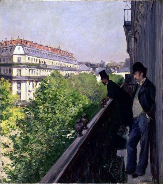 Il réside sur ce boulevard, avec son frère Martial, de 1878 à 1887, et nous offre avec différents tableaux, une image de la transformation du Paris de la fin du 19e siècle, notamment cette toile intitulée  Balcon, boulevard Haussman , réalisée en 1880. Qui est ce peintre ?