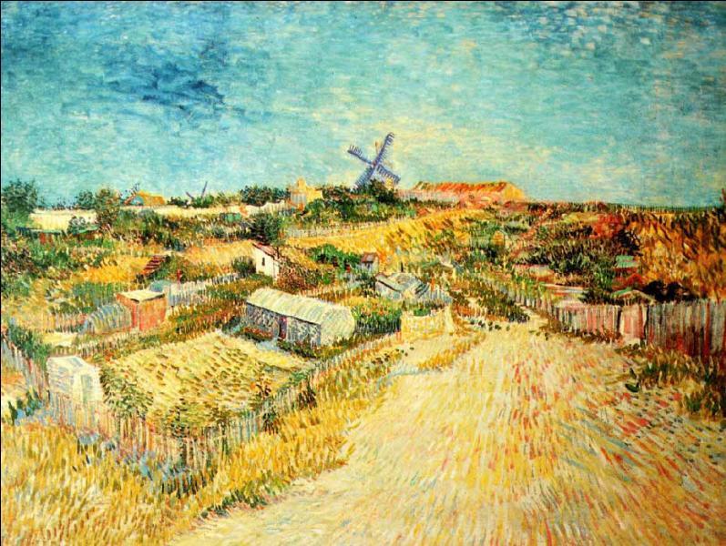 Cette partie de Montmartre était constituée alors de jardins potagers, avec trois moulins à vent. Ce peintre, post-impressionniste, utilise ici la technique du pointillisme pour ce tableau  Jardins potagers, Montmartre  (1887). Qui est-il ?