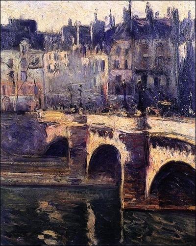 Quel artiste français né au Havre, a peint  Le Pont Neuf  en 1902 ?