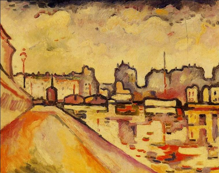 A cette époque, il est influencé par les peintres fauvistes dont il admire la palette colorée, et il peint alors beaucoup de vues du canal Saint-Martin, dont cette toile, réalisée en 1906. De qui s'agit-il ?