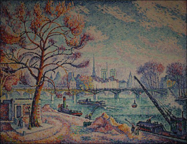 Quel peintre, créateur du pointillisme, a réalisé  Le Pont des Arts  en 1925 ?