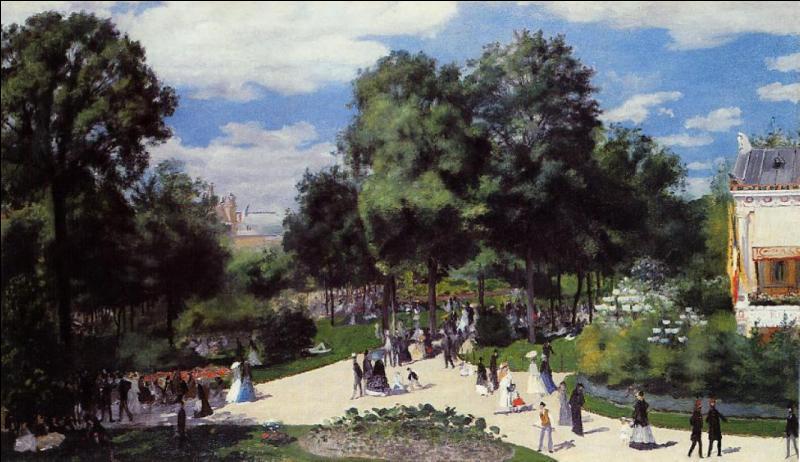 Quel grand peintre impressionniste, ayant réalisé plus de 4000 tableaux, nous offre ici une représentation de son époque intitulée  Les Champs-Elysées durant la foire de Paris en 1867  ?